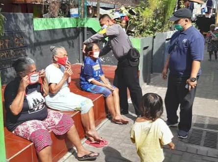 Sapa Warga & Pembagian Masker Upaya Pencegahan Penularan Covid 19