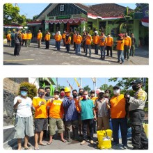 Forum KTB Kecamatan Gedongtengen Lakukan Penyemprotan Desinfektan