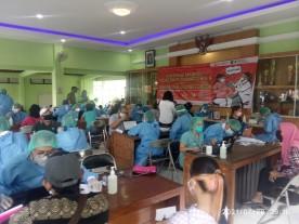 Vaksin massal bekerja sama dengan instansi Wilayah Gedongtengen